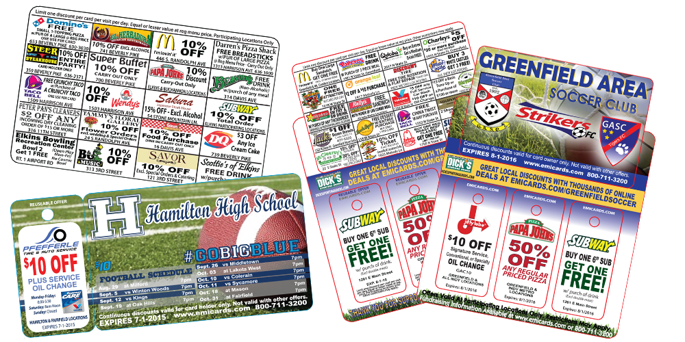 discount cards for fundraising