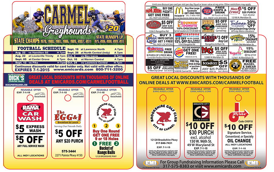 Carmel discount coupon