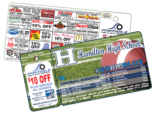 single keytag fundraising discount card
