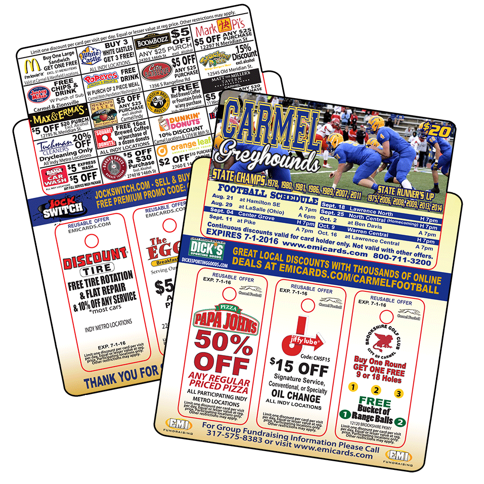 triple tag fundraising discount card
