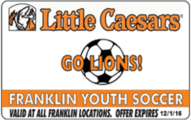 little caesars pizza fundraising card